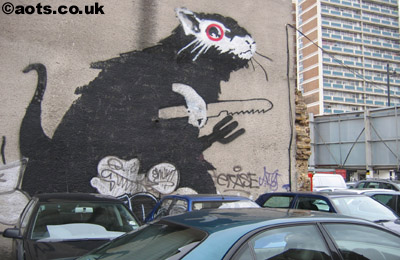 Banksy car park giant rat
