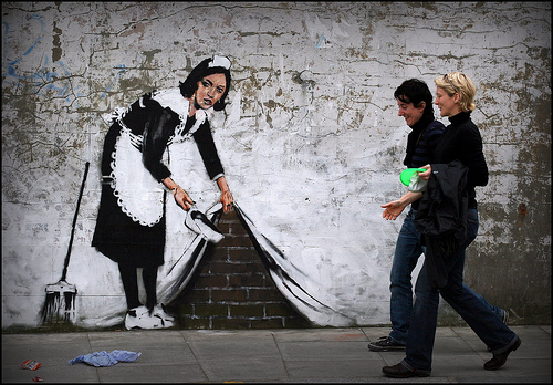 Banksy Chalk Farm Maid