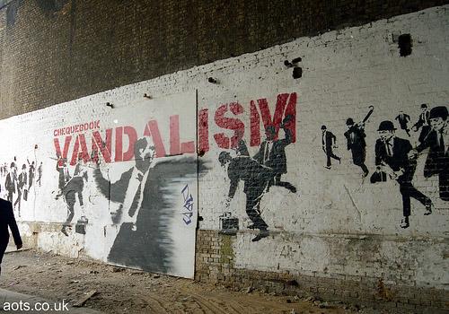 Banksy chequebook vandalism