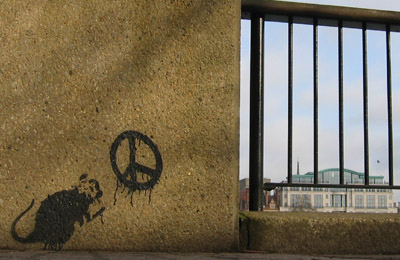 Banksy rat stencil