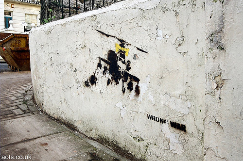 Banksy graffiti Portobello Road helicopter