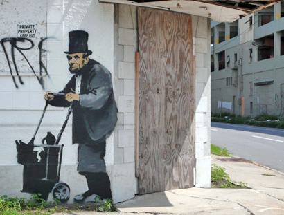 Banksy Abraham Lincoln, New Orleans
