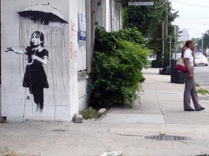 Banksy _ Rain girl, New Orleans