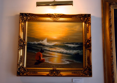 Banksy Crude Oils Modified Oil Painting # 21 Guantanamo Bay detainee
