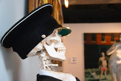 Banksy Crude Oils skeleton