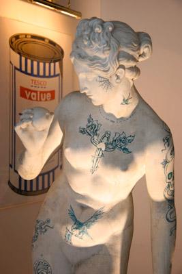 Banksy Crude Oils Statue
