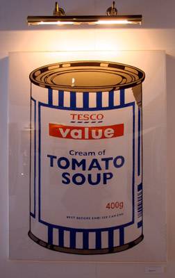 Banksy Crude Oils 'Tomato Soup'
