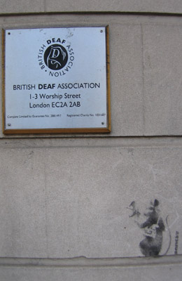 Banksy rat, Deaf Association