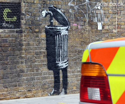 Banksy dustbin sureveillance