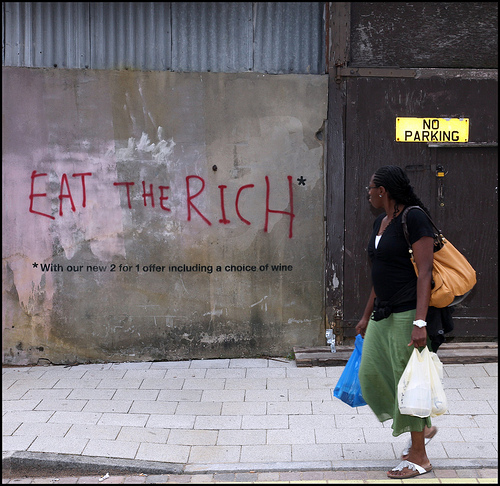 Banksy Eat The Rich