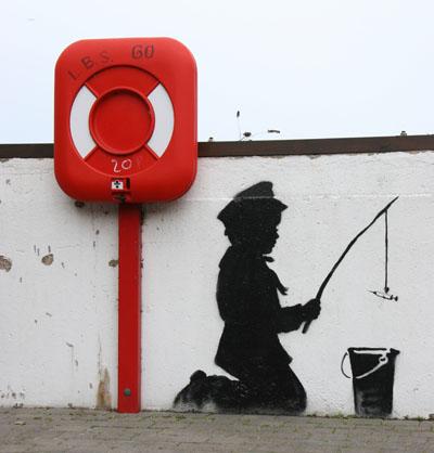 Banksy,  kid with syringe