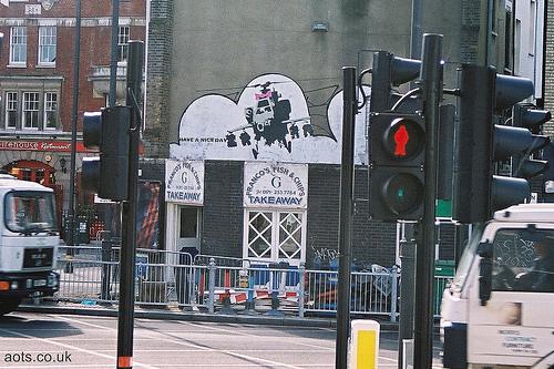 Banksy Chopper, Shoreditch, London