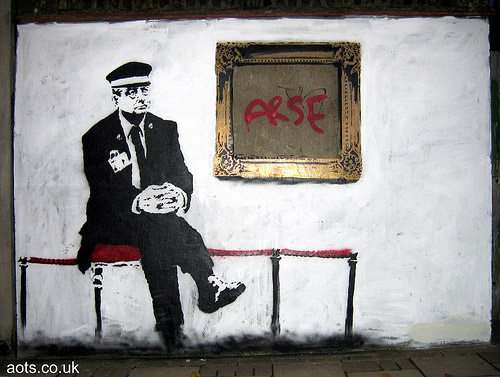 Banksy gallery attendant