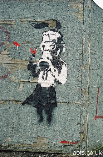 Banksy Gas Mask picture