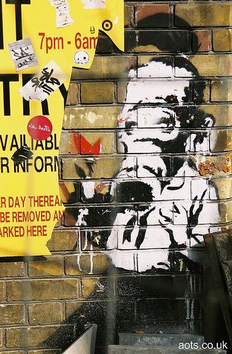 Banksy Gas Mask kid photo