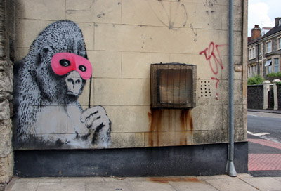 Banksy Gorilla with Mask