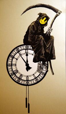 Banksy grin reaper