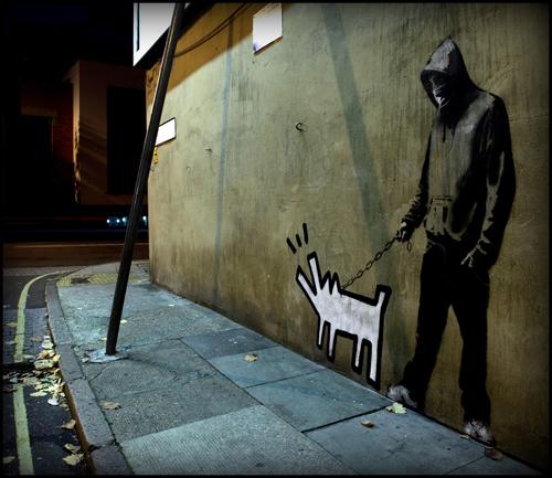 Banksy Haring dog hoodie photo
