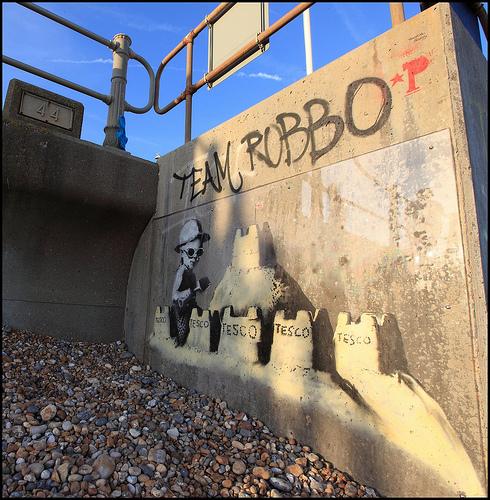Banksy Tesco sandcastles
