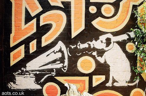 Banksy HMV Graffiti His Masters Voice