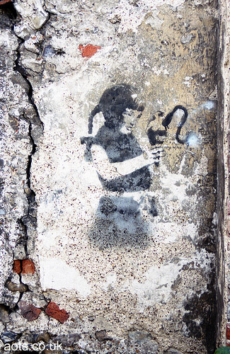 Banksy girl photo