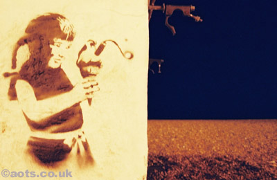 Banksy Seaside Innocence photo