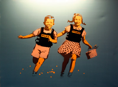 Banksy Jack and Jill canvas
