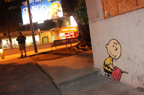Banksy _ Charlie Brown firestarter