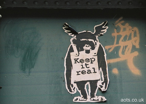 Banksy Keep it real Poster, Ladbroke Grove