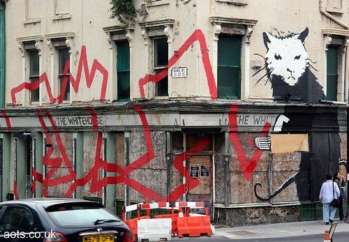 Banksy Liverpool house rat