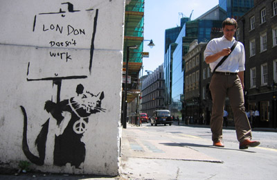 Banksy Rat _ London Doesn't Work