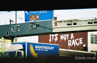 Banksy M4 It's Not A Race