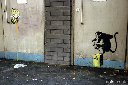 Banksy monkey banana blast