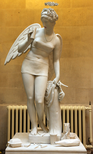Banksy 'Angel Of The North' statue at the Banksy Versus Bristol Museum
