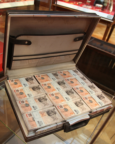 Banksy Diana tenners briefcase