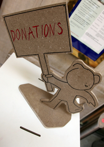 Banksy _ museum donations box