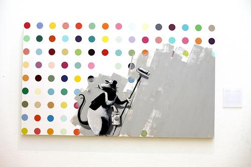 Banksy _ Hirst Spot Painting