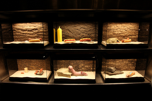Banksy hot dog cabinets