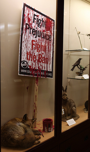 Banksy hunting ban display