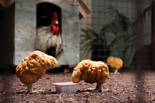 Banksy chicken nuggets