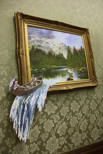 Banksy water fall