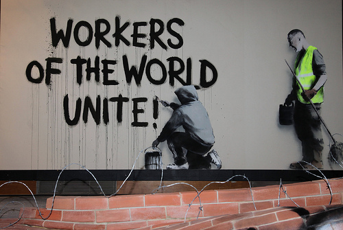 Banksy Workers Of The World Unite
