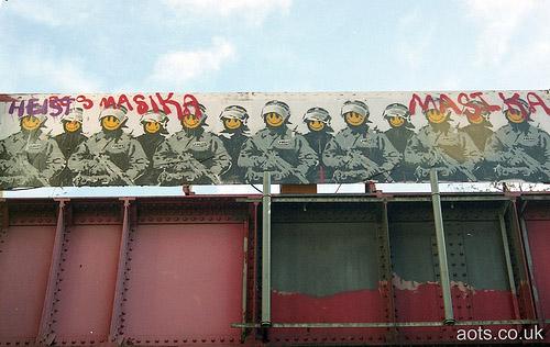 Banksy Cops on Old Street, Shoreditch, London