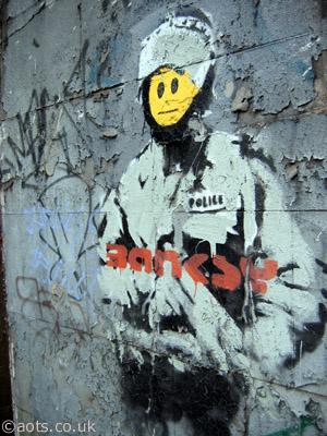 Banksy riot cop