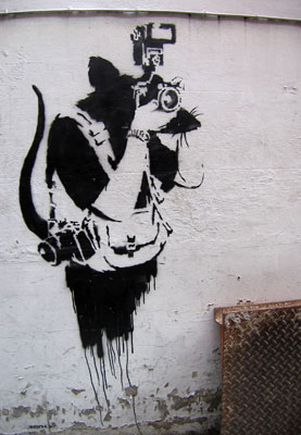 Banksy photographer rat