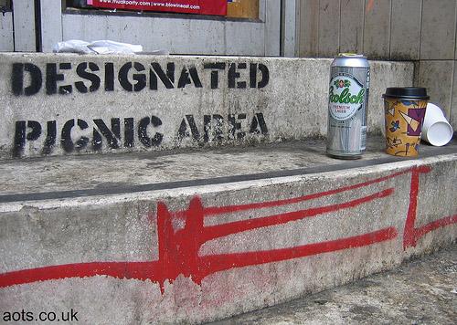 Banksy Designated Picnic Area stencil