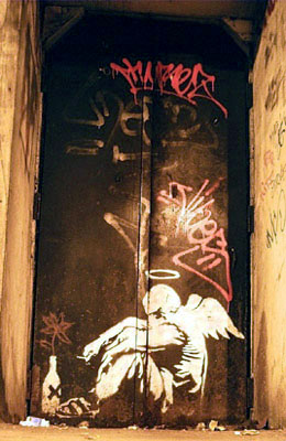 Banksy pissed angel