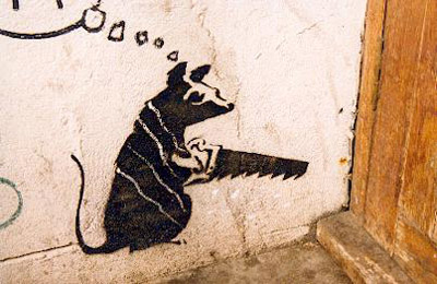 Banksy Rat Stencil image _ Creative Review