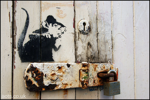 Banksy Rat in Brighton