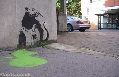 Banksy chemical spill